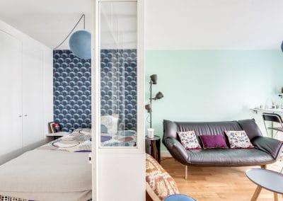 amenagement studio saint charles paris detail verriere acier blanche sejour chambre kaizo studio architecte interieur paris bourg la reine web