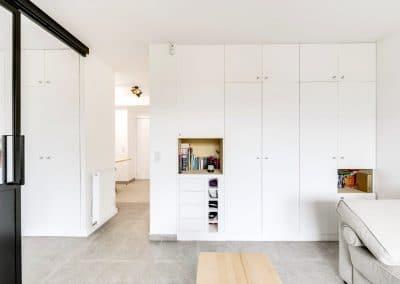 amenagement studio vefa jurgen heyer velizy villacoublay sejour dressing niche ocre kaizo studio architecte interieur paris bourg la reine web