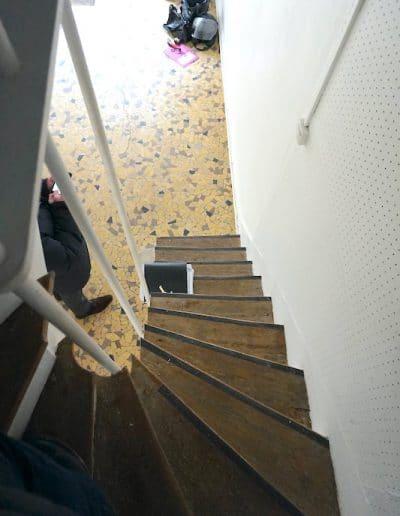 avant local professionnel en duplex aboukir paris escalier vue 1 kaizo studio architecte interieur paris bourg la reine web