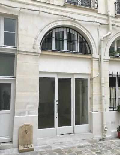 avant local professionnel en duplex aboukir paris facade cour kaizo studio architecte interieur paris bourg la reine web