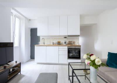 renovation appartement de paris bievres cuisine ouverte ikea metod voxtorp sejour canape entree couloir kaizo studio architecte interieur paris bourg la reine web