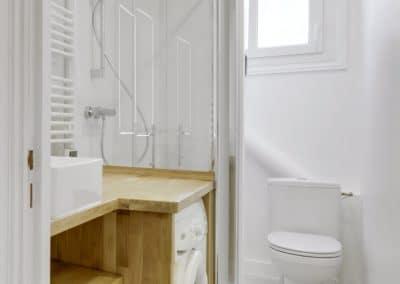 renovation appartement locatif maillard paris salle de bain meuble vasque sur mesure tiroirs machine a laver kaizo studio architecte interieur paris bourg la reine web