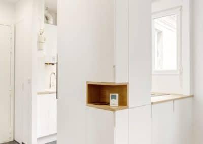 renovation appartement marcel yol vanves cuisine ouverte sur mesure colonne niche bois kaizo studio architecte interieur paris bourg la reine web
