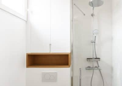 renovation appartement marcel yol vanves salle de douche wc niche bois sur mesure douche kaizo studio architecte interieur paris bourg la reine web