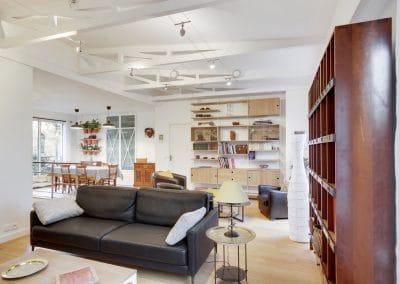 renovation maison de la bievre bourg la reine espace tv canapes duvivier salon salle a manger kaizo studio architecte interieur paris bourg la reine web