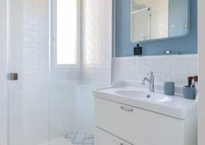 renovation maison georges clemenceau maisons alfort etage salle de douche meuble vasque kaizo studio architecte interieur paris bourg la reine web