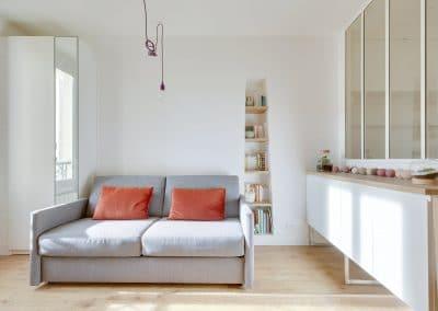 renovation studio pyrenees paris sejour canape vibieffe niche bibliotheque kaizo studio architecte interieur paris bourg la reine web