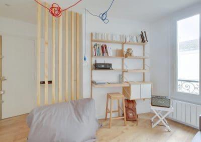 renovation studio pyrenees paris sejour claustra bureau ikea svalnas pouf made kaizo studio architecte interieur paris bourg la reine web