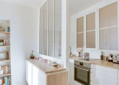 renovation studio pyrenees paris sejour cuisine ikea metod voxtorp cloison verriere blanche kaizo studio architecte interieur paris bourg la reine web