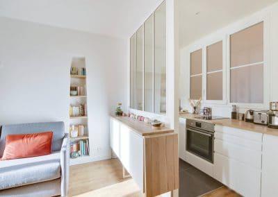 renovation studio pyrenees paris sejour cuisine ikea metod voxtorp verriere blanche kaizo studio architecte interieur paris bourg la reine web