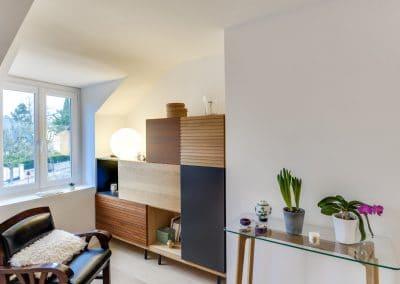 transformation appartements duplex du president roosevelt sceaux sejour espace detente bibliotheque kaizo studio architecte interieur paris bourg la reine web