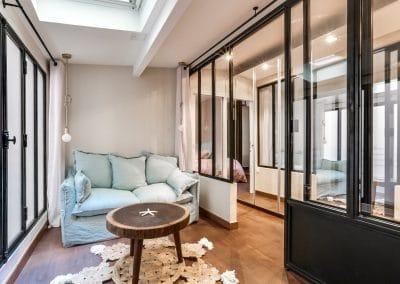 transformation atelier en appartement aboukir paris chambre dami verriere penderie portes miroir kaizo studio architecte interieur paris bourg la reine web