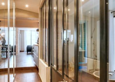 transformation atelier en appartement aboukir paris couloir verriere penderie portes miroir acces cuisine kaizo studio architecte interieur paris bourg la reine web