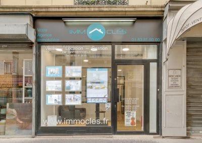 transformation boutique agence immobiliere mouton duvernet paris facade kaizo studio architecte interieur paris bourg la reine web
