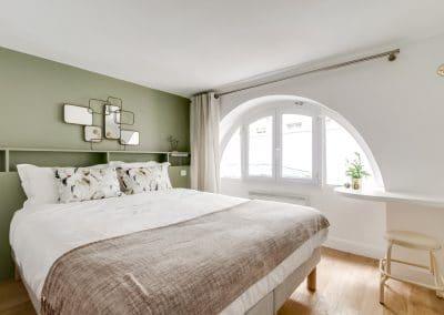 transformation local duplex habitation aboukir paris chambre tete de lit sur mesure tablette bureau kaizo studio architecte interieur paris bourg la reine web