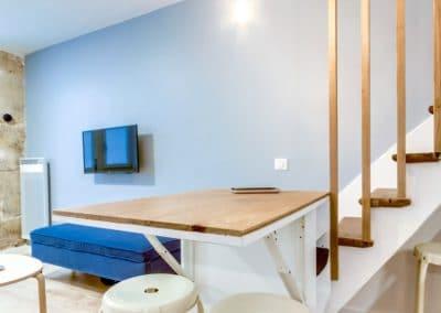 transformation local duplex habitation aboukir paris cuisine ouverte sur sejour detail tablette rabattable kaizo studio architecte interieur paris bourg la reine web