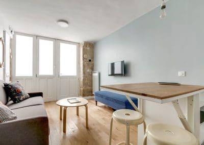 transformation local duplex habitation aboukir paris cuisine ouverte sur sejour tablette rabattable kaizo studio architecte interieur paris bourg la reine web
